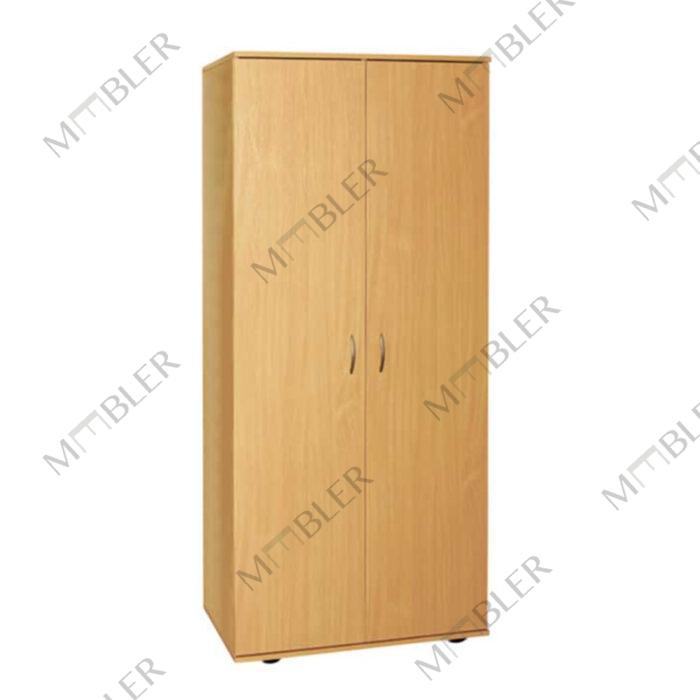 0636 kaheosaline garderoobikapp riiulitega