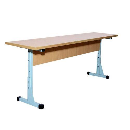 24028_ Ral 7035 B PL kooli söökla laud 2-kohaline PVC kattega, kõrgusega N4-6
