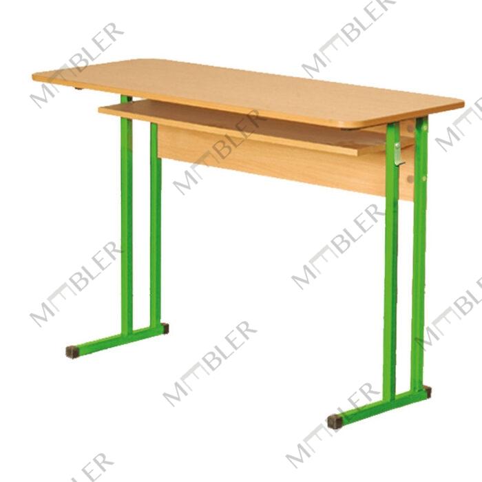 0128 plastikust kattega keemiaklassi laud