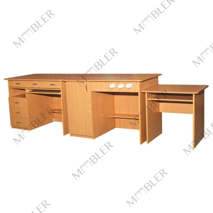 0198 kolmeosaline füüsika- ja keemiakabineti laud