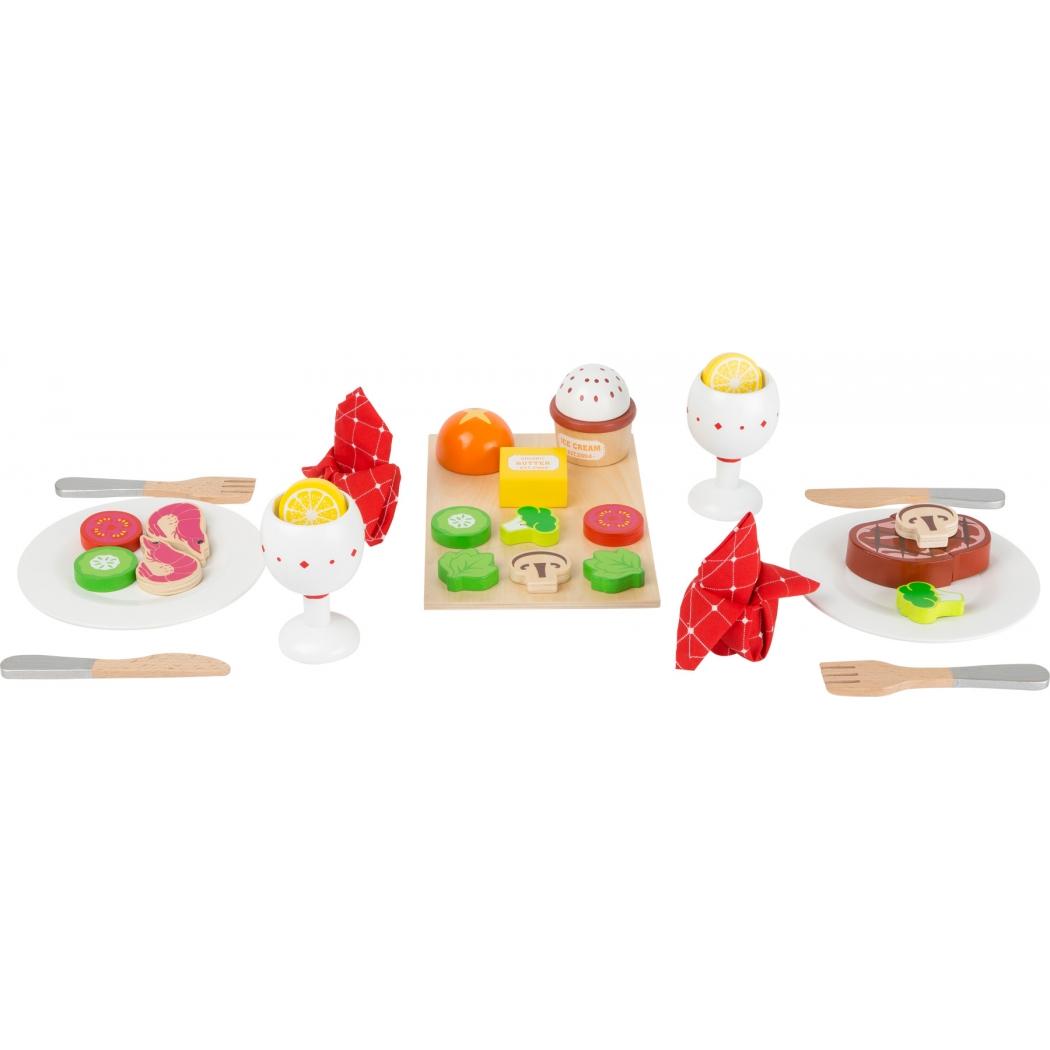Laste puidust õhtusöögikomplekt, mudel L11215